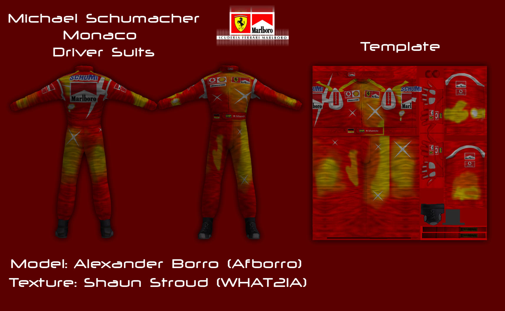 Schumacher Ferrari Monaco Driver Suit Ctdp Development Blog